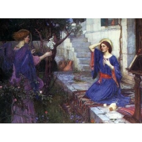 The Unwelcome Companion - The Annunciation 1914 by John William Waterhouse-Art gallery oil painting reproductions