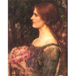 The Bouquet Study 1908 by John William Waterhouse-Art gallery oil painting reproductions