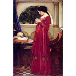 The Crystal Ball 1902 by John William Waterhouse-Art gallery oil painting reproductions