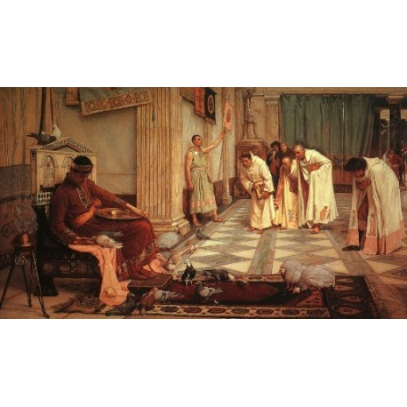 The Favorites of the Emperor Honorius 1883 by John William Waterhouse-Art gallery oil painting reproductions
