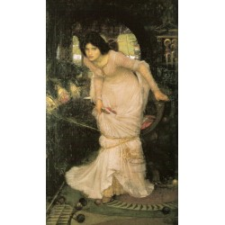 The Lady of Shallot Looking at Lancelot 1894 by John William Waterhouse-Art gallery oil painting reproductions