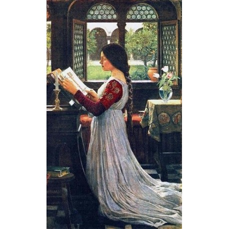 The Missal 1902 by John William Waterhouse-Art gallery oil painting reproductions