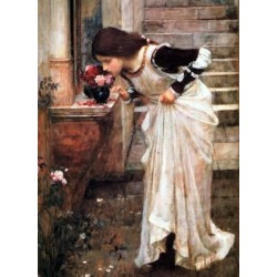 The Shrine 1895 by John William Waterhouse-Art gallery oil painting reproductions