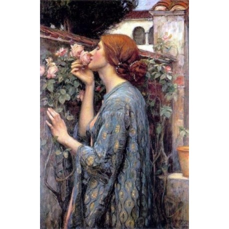 The Soul of the Rose aka My Sweet Rose 1908 by John William Waterhouse-Art gallery oil painting reproductions