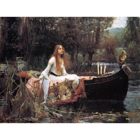 The Lady of Shallot 1888 by John William Waterhouse-Art gallery oil painting reproductions