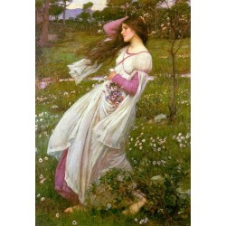 Windswept 1902 by John William Waterhouse-Art gallery oil painting reproductions