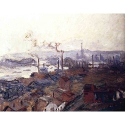 General View of Rouen from St Catherines by Claude Oscar Monet - Art gallery oil painting reproductions