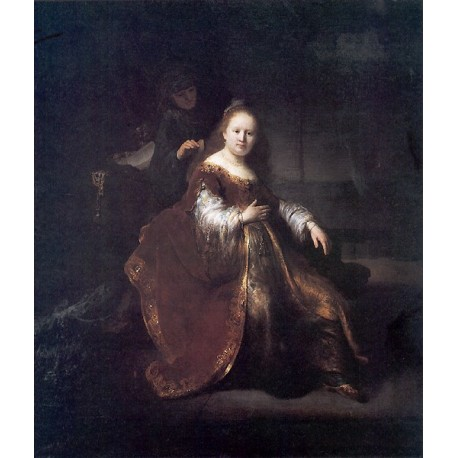 A Heroine from the Old Testament 1632 by Rembrandt Harmenszoon van Rijn-Art gallery oil painting reproductions