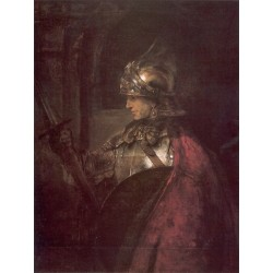 A Man in Armour 1655 by Rembrandt Harmenszoon van Rijn-Art gallery oil painting reproductions