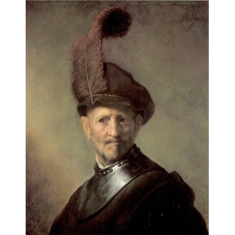 An Officer 1629-1630 by Rembrandt Harmenszoon van Rijn -Art gallery oil painting reproductions
