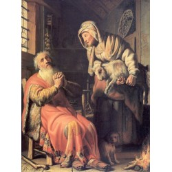 Tobit and Anna with the Kid 1626 by Rembrandt Harmenszoon van Rijn -Art gallery oil painting reproductions