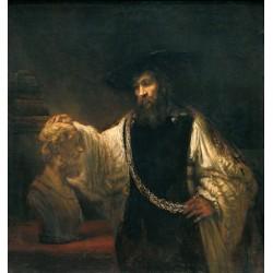 Aristotle with a Bust of Homer 1653 by Rembrandt Harmenszoon van Rijn-Art gallery oil painting reproductions