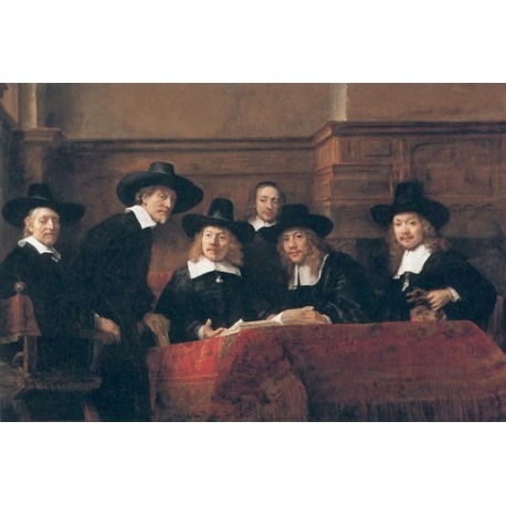 The Syndics 1663 by Rembrandt Harmenszoon van Rijn-Art gallery oil painting reproductions