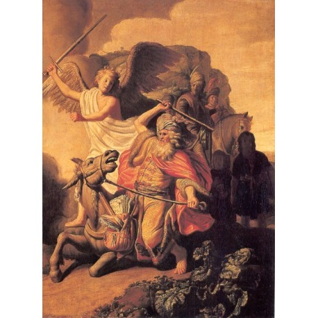 Balaam and the Ass 1626 by Rembrandt Harmenszoon van Rijn-Art gallery oil painting reproductions