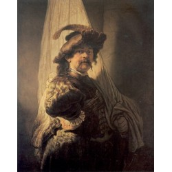 The Standard-Bearer 1636 by Rembrandt Harmenszoon van Rijn-Art gallery oil painting reproductions