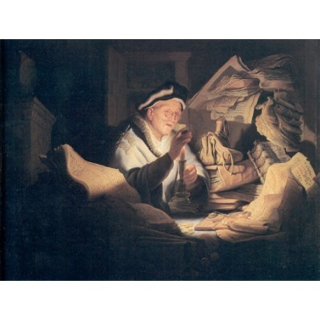 The Rich Man from the Parable 1627 by Rembrandt Harmenszoon van Rijn-Art gallery oil painting reproductions