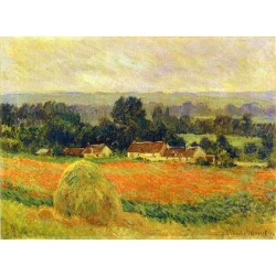 Haystack at Giverny by Claude Oscar Monet - Art gallery oil painting reproductions