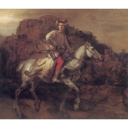 The Polish Rider 1655 by Rembrandt Harmenszoon van Rijn-Art gallery oil painting reproductions
