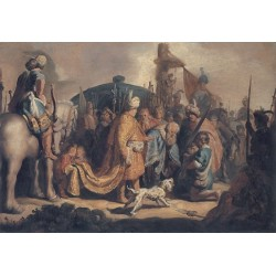 David Presents the Head of Goliath to King Saul 1627 by Rembrandt Harmenszoon van Rijn-Art gallery oil painting reproductions