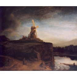 The Mill 1648 by Rembrandt Harmenszoon van Rijn-Art gallery oil painting reproductions