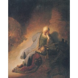 Jeremiah Lamenting the Destruction of Jeruselem 1630 by Rembrandt Harmenszoon van Rijn-Art gallery oil painting reproductions