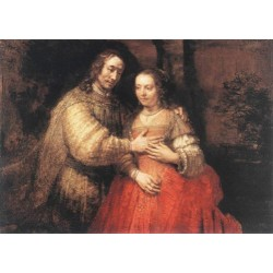 The Jewish Bride 1665 by Rembrandt Harmenszoon van Rijn-Art gallery oil painting reproductions
