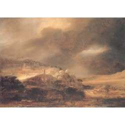 Landscape 1640 by Rembrandt Harmenszoon van Rijn-Art gallery oil painting reproductions