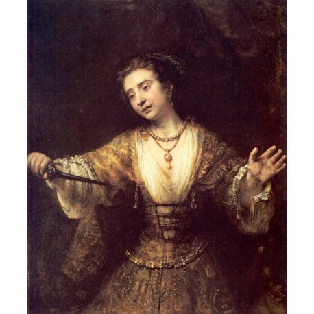Lucretia 1664 by Rembrandt Harmenszoon van Rijn-Art gallery oil painting reproductions