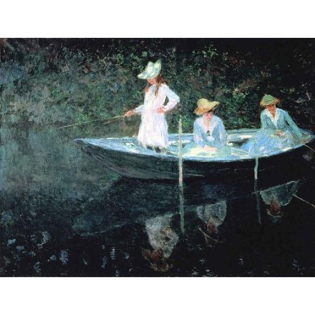 In the Rowing Boat by Claude Oscar Monet - Art gallery oil painting reproductions