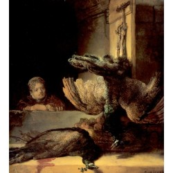 Still Life with Peacocks 1639 by Rembrandt Harmenszoon van Rijn-Art gallery oil painting reproductions