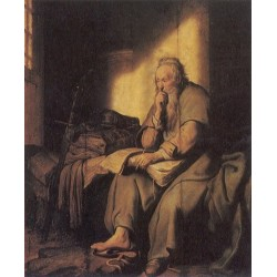 St. Paul in Prison 1627 by Rembrandt Harmenszoon van Rijn-Art gallery oil painting reproductions