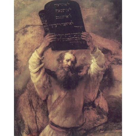 Moses 1659 by Rembrandt Harmenszoon van Rijn-Art gallery oil painting reproductions