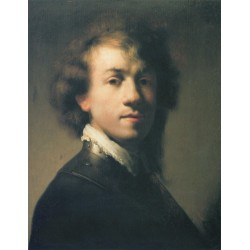 Self Portrait, Young by Rembrandt Harmenszoon van Rijn-Art gallery oil painting reproductions