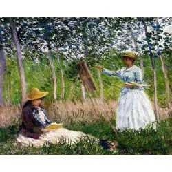 In the Woods at Giverny by Claude Oscar Monet - Art gallery oil painting reproductions