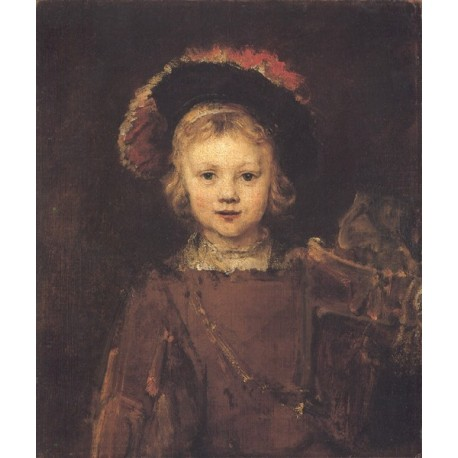 Portrait of a Boy 1665-1660 by Rembrandt Harmenszoon van Rijn-Art gallery oil painting reproductions