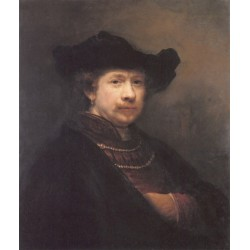Self Portrait 1642 by Rembrandt Harmenszoon van Rijn-Art gallery oil painting reproductions