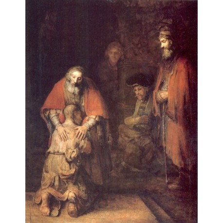 Return of the Prodigal Son 1666 by Rembrandt Harmenszoon van Rijn-Art gallery oil painting reproductions