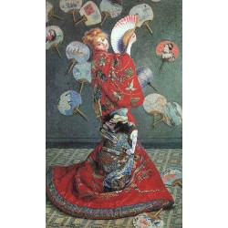 La Japonaise Costume by Claude Oscar Monet - Art gallery oil painting reproductions