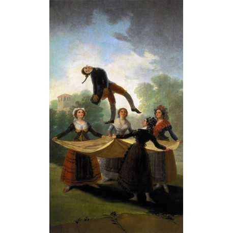 The Straw Manikin by Francisco de Goya-Art gallery oil painting reproductions