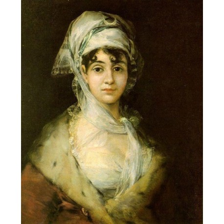 Antonia Zarate by Francisco de Goya-Art gallery oil painting reproductions