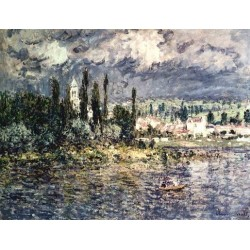 Landscape with Thunderstorm by Claude Oscar Monet - Art gallery oil painting reproductions