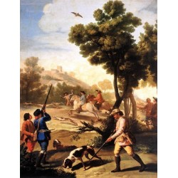The Quail Shoot by Francisco de Goya-Art gallery oil painting reproductions