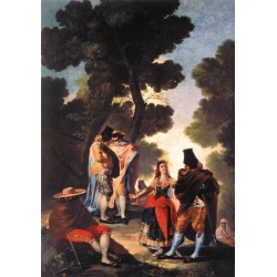 A Walk in Andalusia by Francisco de Goya-Art gallery oil painting reproductions