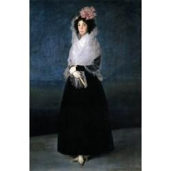 The Marquesa de la Solana by Francisco de Goya-Art gallery oil painting reproductions