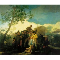 Blind Guitarist by Francisco de Goya-Art gallery oil painting reproductions