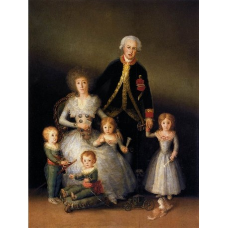 The Family of the Duke of Osuna by Francisco de Goya-Art gallery oil painting reproductions
