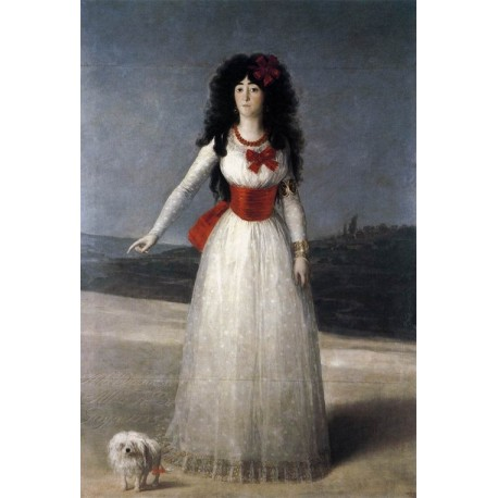 The Duchess of Alba by Francisco de Goya-Art gallery oil painting reproductions