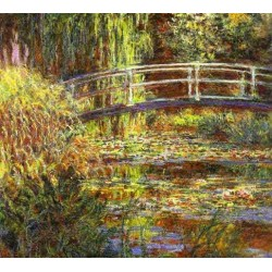 Le Bassin aux Nympheas, Harmonie Rose by Claude Oscar Monet - Art gallery oil painting reproductions