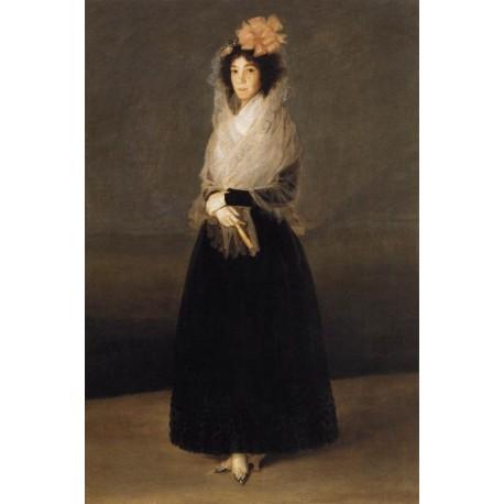 The Countess del Carpio by Francisco de Goya-Art gallery oil painting reproductions