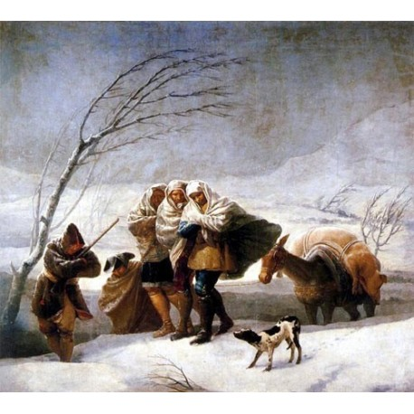 The Snowstorm by Francisco de Goya-Art gallery oil painting reproductions